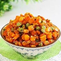 香煎地瓜豌豆粒