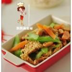 三鲜腰果锅巴(素菜)