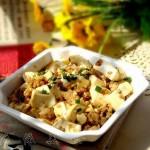 肉末豆腐(葷素搭配-價廉物美營養菜)