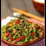 榄菜肉沫四季豆(荤素搭配-适合带饭的便当菜)