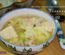 冻豆腐菜汤