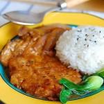 洋葱猪排饭(荤菜)