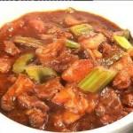 罐焖牛肉和腌菜炒汤圆(荤素搭配)