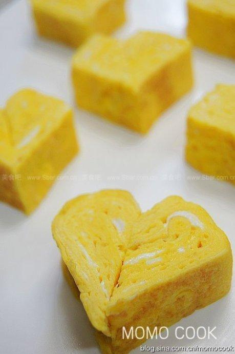 如何制做心型日式厚蛋烧