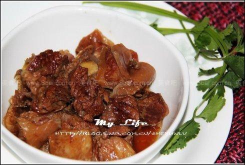 甜面酱红焖牛肉