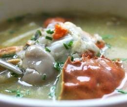 湖蟹菌菇粥煲