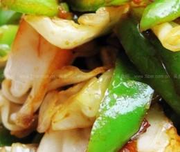 圆白菜炒尖辣椒