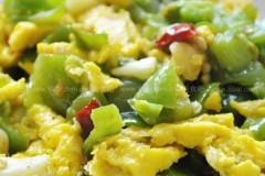 青椒炒鸡蛋黄