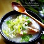 姜丝排骨粥(早餐菜谱)