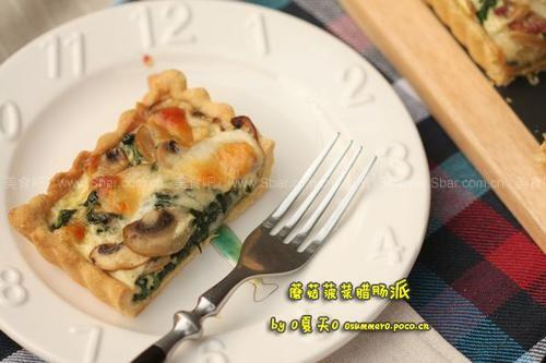 蘑菇菠菜腊肠派