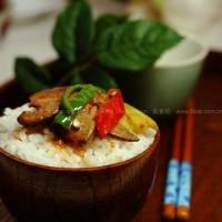 泡椒猪肝盖饭