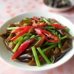 茼蒿拌黄金海茸条(素菜-来自南极补充胶原蛋白)