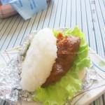 米汉堡烤猪颈肉(早餐菜谱-中式汉堡)