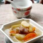 馬蹄竹蔗羊腿湯(補而不燥的廣式羊肉湯)