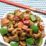 猪肠炒洋葱(荤菜)