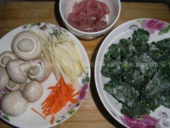 翡翠蘑菇肉丝