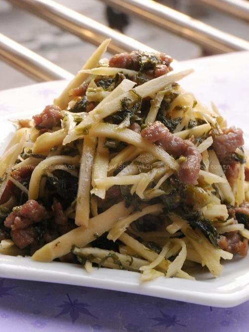 牛肉咸菜笋丝