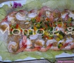 彩椒粉丝蒸虾