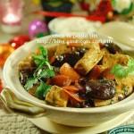冬菇豆腐煲(素菜-家庭自制绿色低碳的酸浆豆腐)
