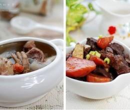 砂锅焖羊腿和养生淮杞党参羊腿汤