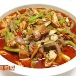 子姜炒兔肉(荤菜)