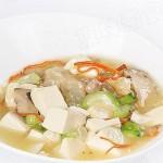 雪蓮子松茸燴豆腐(素菜-排除毒素清理腸胃菜肴)