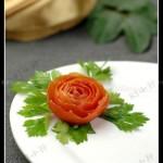 番茄玫瑰(3分钟摆盘装饰)