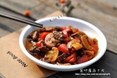 酱炒蘑菇牛肉