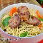 香肠炒面条(早餐菜谱)