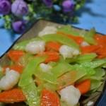 虾仁炒莴苣胡萝卜(荤素搭配)