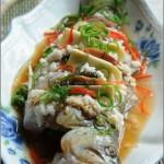 酒酿蒸鲈鱼(清蒸菜)