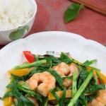 韭菜彩椒炒蝦仁(海鮮家常菜)