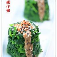 雙色芝麻菠菜墩