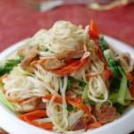 什锦羊肉炒面(早餐菜谱)