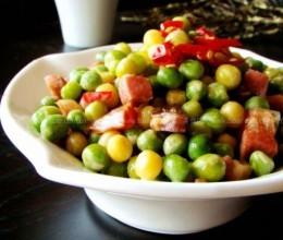 腊味烧豌豆