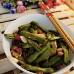腊肉干煸豆角(素菜)