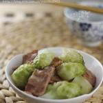 培根炒兒菜(葷素搭配)