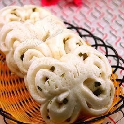 蝴蝶葱花卷