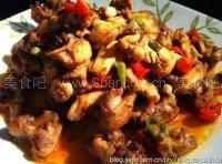 油焖鲜香菇+茶油炒仔鸡