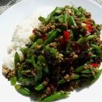 榄菜豆角(素菜)