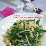 韭菜豆芽爆炒蛤蜊(海鲜家常菜)