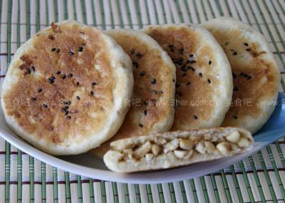 电饼铛花生糖馅饼和豆沙馅饼