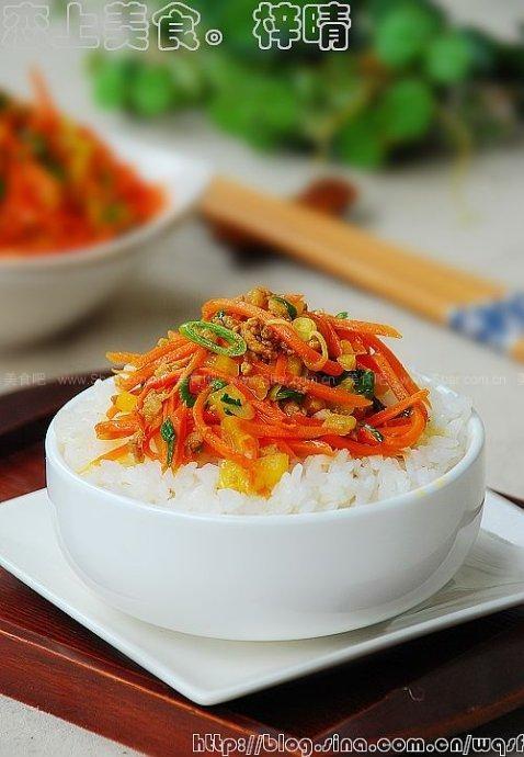 胡萝卜丝炒青蒜