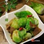兒菜炒肉片(葷素搭配)