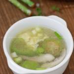 快手鲜蘑丝瓜蛋汤(素菜)