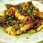 油蒜炝虾(海鲜家常菜)