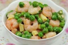 海虾炒豌豆