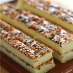 肉松海苔芝麻蛋糕(早餐菜谱)
