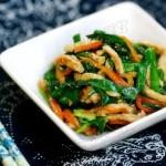 韭菜肉丝(荤素搭配)