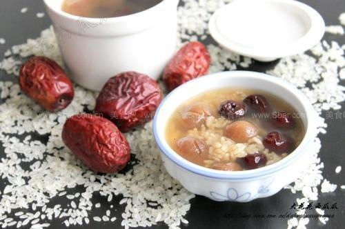 红枣桂圆阴米羹(早餐菜谱)的做法步骤
